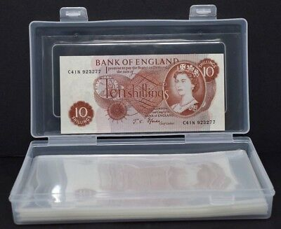 100X Medium Banknote Sleeves Value Pack in Box 170mm x 85mm size