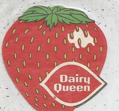 Dairy Queen Strawberry Iron On Patch-N-Pocket 1976 STILL SEALED
