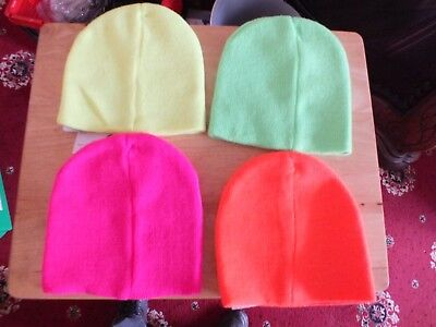 job lot childrens neon  hats one size 16 in total