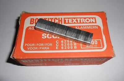 """Box of 5000 Bostitch Staples, SCCR 25 1/4"""". 13mm Wide"""