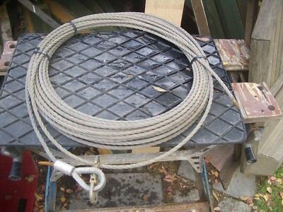 APPROX 10 METRE WIRE ROPE FOR TIRFOR MINIFOR ETC 7mm DIA 500KG SWL VAT INC SRA8