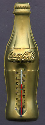 Vintage 1950's 1960's Coca Cola Pressed Tin Thermometer Nice Shape See Scan