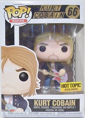 "KURT COBAIN Nirvana Pop Rocks 4"" Vinyl Figure #66 Hot Topic Exclusive Funko 2018"