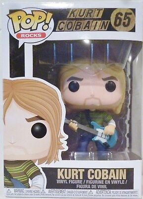 "KURT COBAIN Nirvana Pop Rocks 4"" inch Vinyl Figure #65 Funko 2017"