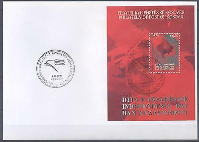 Kosovo 2008 Fdc S/s Independence Day Very Fine