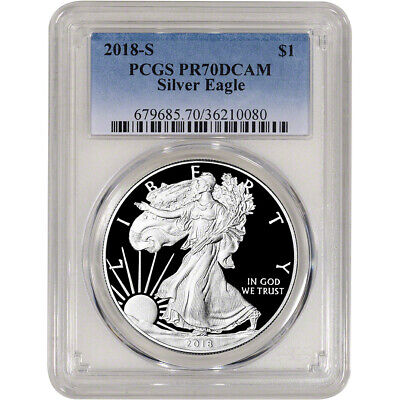 2018-S American Silver Eagle Proof - PCGS PR70 DCAM