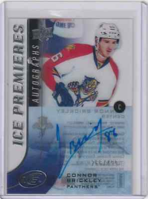 2015-16 UD Ice Premieres Auto Connor Brickley 266/499 Florida Panthers