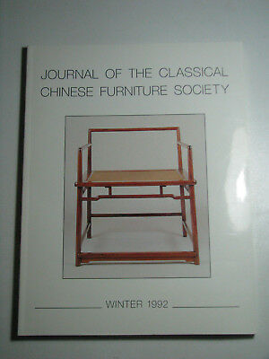 Journal of the Classical Chinese Furniture Society Winter 1992 Collectible