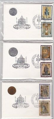 VATICAN CITY 1975 COINS LOT OF 5 PNC's FROM 99 COMPANY