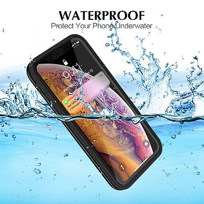 For iPhone XS MAX XS XR X 7 8 360° Full Hybrid Protective Waterproof Case Cover