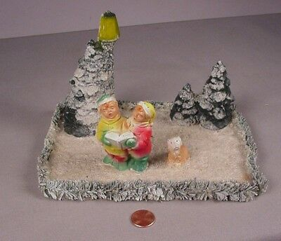Vintage 1940's Miller Chalk ware Village scene Christmas decoration  #1