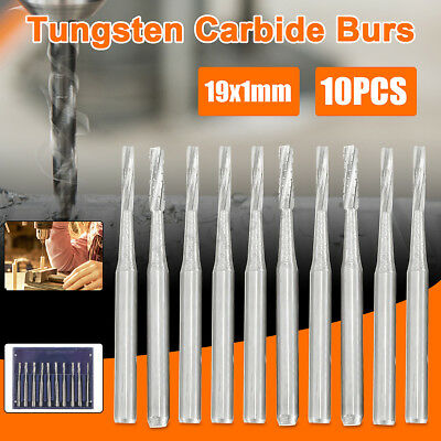 10Pcs 19*1 mm Tungsten Carbide Burs Dentist Dental Burs Lab Burrs Tooth Drill