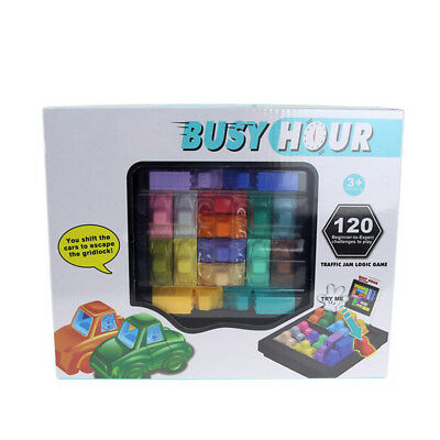 Fun Rush Hour Traffic Jam Logic Game Toy Boys Girls Busy Hour Puzzle Game 2018