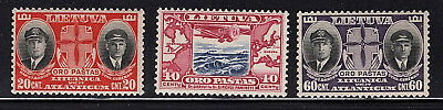 LITHUANIA US 1934 air mail AIRPLANE Sc#C79.C80,C81 Sign MNH Capts.Darius&Girenas