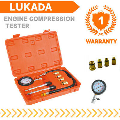 Petrol Engine Compression Tester Kit  Set  Motorcycles and Automotive LUKADA