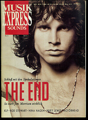 Musik Express Sounds -- 1991 - Nr. 5 -- Jim Morrison -- Nina Hagen - Rod Stewart