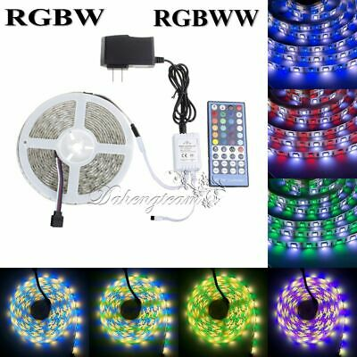 5M 5050 RGBW RGBWW SMD RGB+White Warm White 5 in 1 LED Strip Light 60LEDS/M