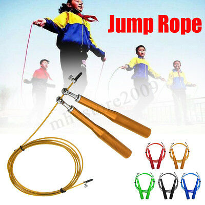 Adjustable Speed Skipping Jump Rope Steel Cable Gym Fitness Boxing Crossfit