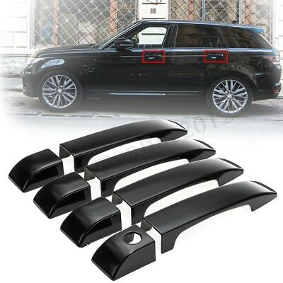 Gloss Black ABS Door Handle Covers Trim For Land Rover Range Rover L322 02-12