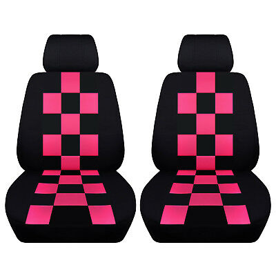 Car Sedan Seat Covers 2010-2015 Mini Cooper Checkered Design Custom Fit ABF