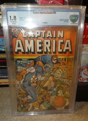 Marvel comics Golden age Captain America  1.8 61 CBCS cgc RED SKULL bondage 1947