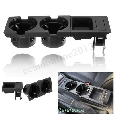 Front Center Console Storage Box Coin Drink Cup Holder For BMW E46 3Series 98-06