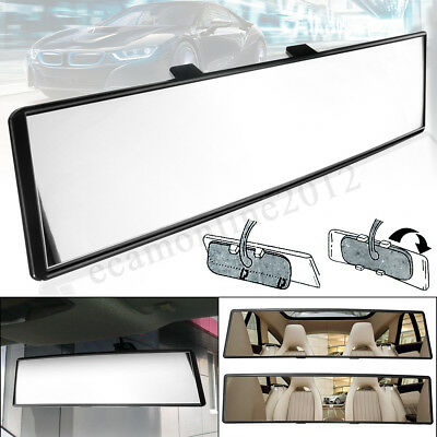 300mm Universal 12'' Car Interior Anti-Glare Rear View Rearview Mirror Flat Clip