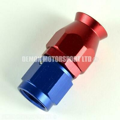 AN10 Straight Braided Hose Fitting (Red & Blue) PTFE Teflon Lined Hose -10 10AN