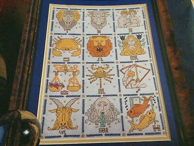 Cross Stitch Chart Horoscope Sampler Chart 12 Signs Of The Zodiac Older Chart