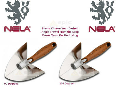 Nela Stainless Plastering Inside/Internal Corner Angle Trowel Choose 90° or 103°