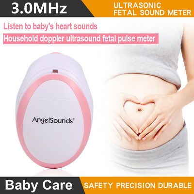 3.0MHz Angelsounds Ultrasound Fetal Prenatal Doppler Baby Heart Rate Monitor