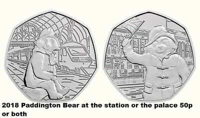 2018 Paddington Bear at the station or the palace 50p .from sealed bank bags new