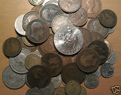 coins 100 english coins british bulk coin lot victoria edward george elizabeth