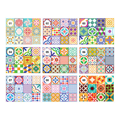 """6"""" 15cm Color  Mosaic Tile Stickers Decal Kitchen Bathroom Stairs Self Adhesive"""