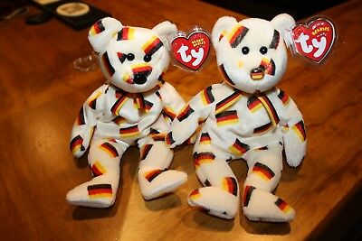 Ty Beanie Babies / *DEUTSCHLAND* FLAG & BLACK NOSE exclusive bears lot MWMT
