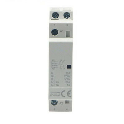 2P 25A 230V 2 NO Din rail AC Contactor for Household 2 Normally Open 50/60HZ