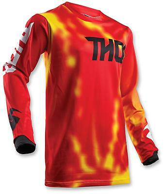 Thor Men's MX ATV Motocross Jersey S8 Pulse Air Radiate Red Medium