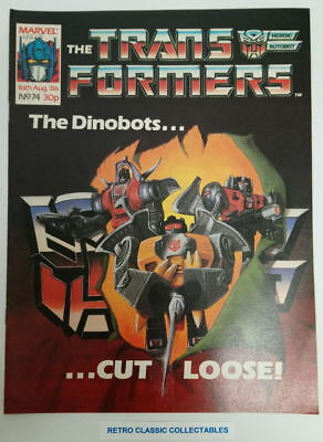 Marvel UK - The Transformers - Comic - No. 74 - 16th Aug. 1986