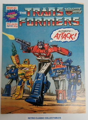 Marvel UK - The Transformers - Comic - No. 70 - 19th July. 1986