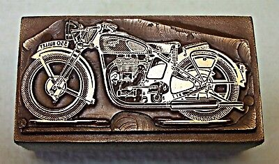 "ROYAL ENFIELD ""350 BULLET"" MOTORCYCLE"" Printing Block."
