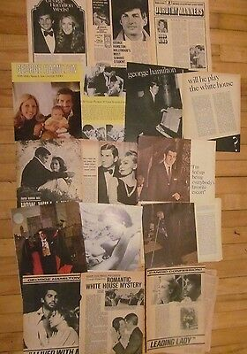 George Hamilton, Lot of NINE Vintage Clippings, Articles