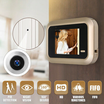 2.4'' LCD Digital Video Door Viewer Peephole Security Door Eye Monitoring Camera