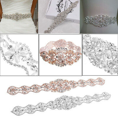 34Cm Cintura Matrimonio Cristallo Strass Sash Applique For Diy Abito Da Sposa
