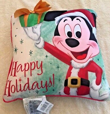 Disney parks merchandise Mickey Mouse Christmas Pillow