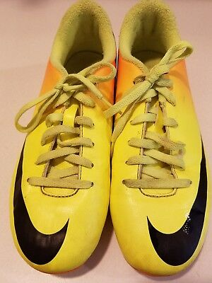 eafeea7c397f NIKE MERCURIAL CLEATS Youth US 3Y Yellow Orange Soccer Kids Boys Girls  Sports