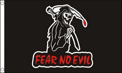 FEAR NO EVIL FLAG 5ft X 3ft