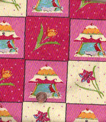 100/% COTTON FELICITY MILLER BIRDHOUSE PATCH 5016 WESTMINSTER BY THE YARD
