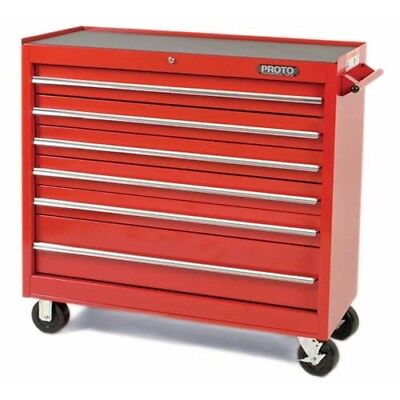 Proto J444142-6RD 41-1/2W X18D X 42H Red 6-Drawer Workstation