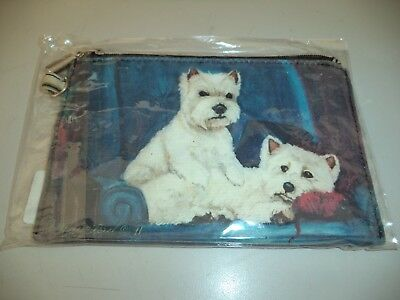 Ruth Maystead - Zipper Pouch - Westie - West Highland Terrier