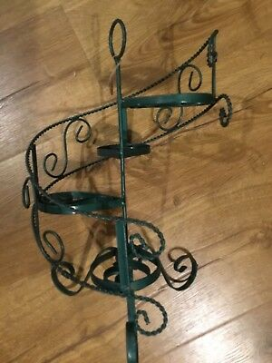 Antique Metal Plant  or Succulents Stand or Display for Tabletop Antiques